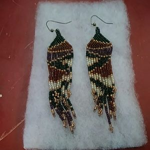 Native American Indian Pierced Earrings